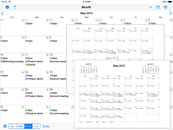 Print Reminders And Your Calendar For Ipad And Iphone Print Month