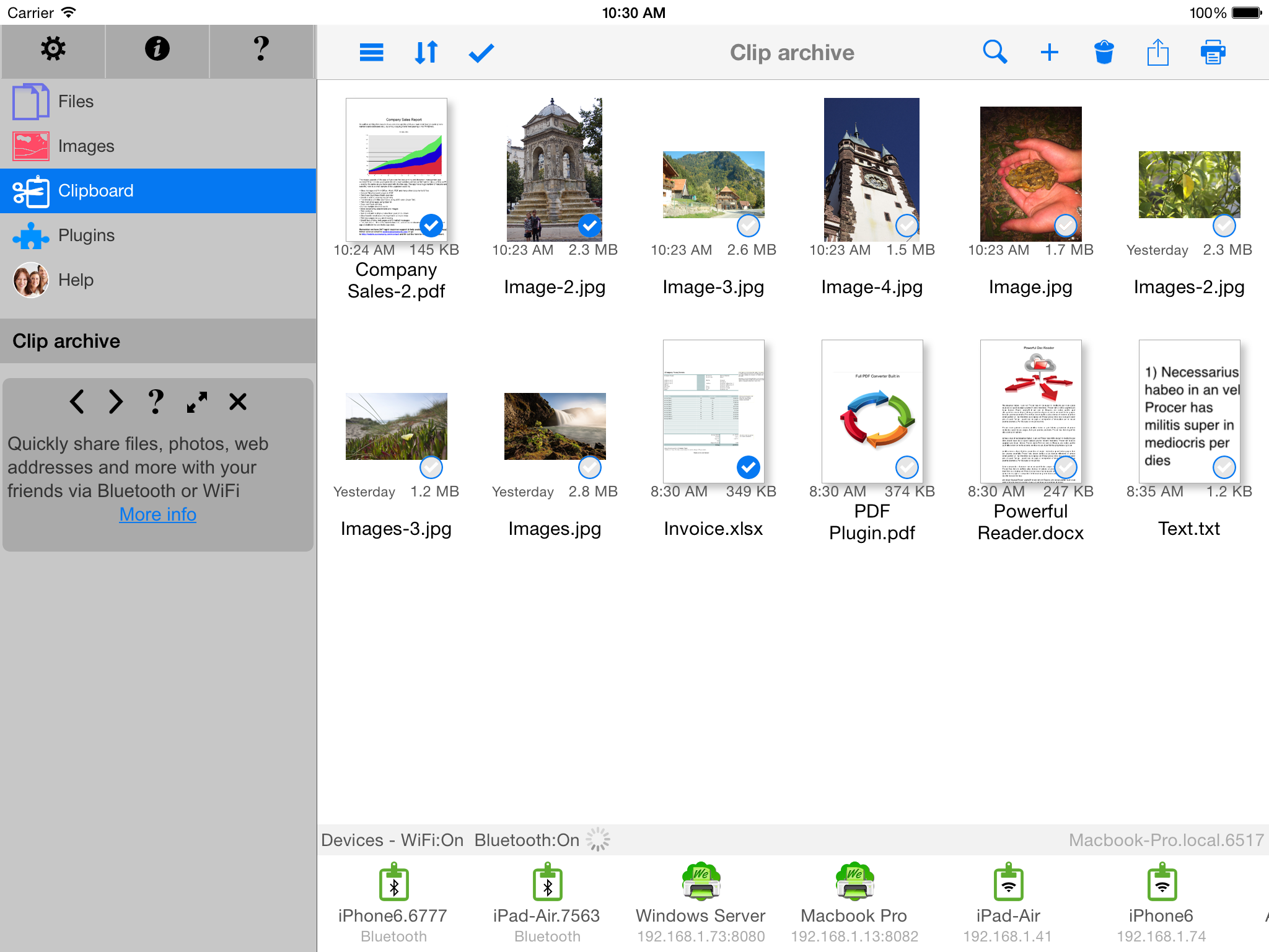 Manage all iPhone/iPad and Cloud Files - in FileCentral for iOS 9 Image